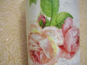 Баночка для сыпучих «Вьющиеся розы» с ниточным узором