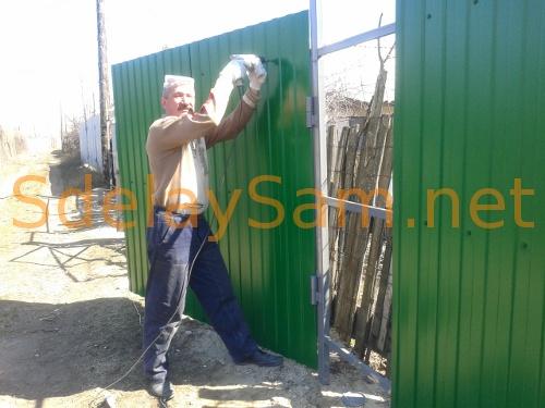 Забор из профнастила своими руками: фотоотчет