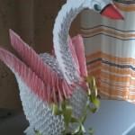 Оригами - создаем лебедя