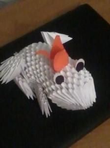 Оригами - создаем лягушку