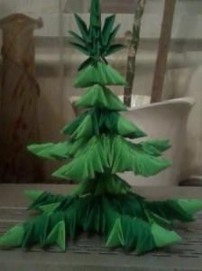 Оригами - ёлочка