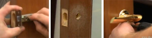 Установка межклмнатных дверей своими руками - врезка ручки