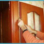 Установка межкомнатных дверей - последний этап