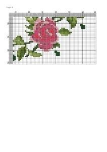 Часы с вышитыми розами