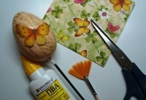 Декупаж пасхальных яиц своими руками - Инструменты