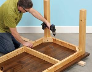 Стол для кухни своими руками - сборка