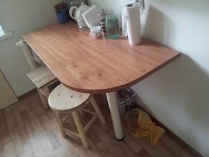 Угловой стол для кухни своими руками