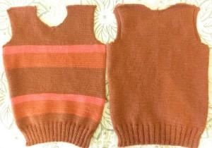 Детский свитер своими руками - Перед и спинка