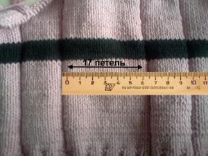 Детский свитер своими руками - Как определить плотность вязания
