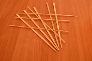 Игрушечный мостик своими руками - бамбуковые шпажки