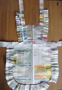 Школьный фартук своими руками - макет из газеты