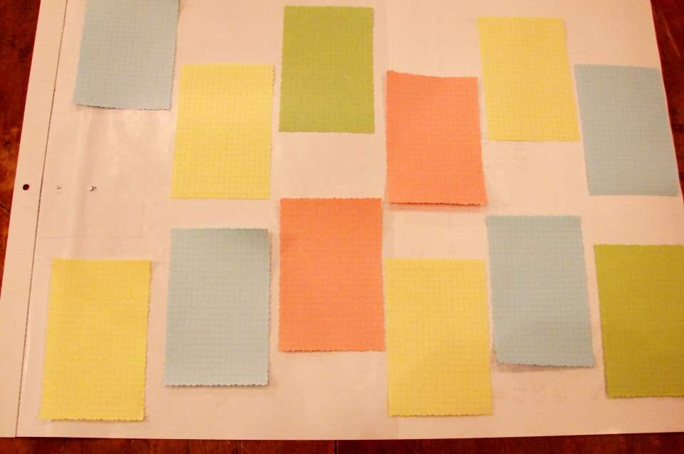 Настенный календарь своими руками - 12 прямоугольничков по числу месяцев