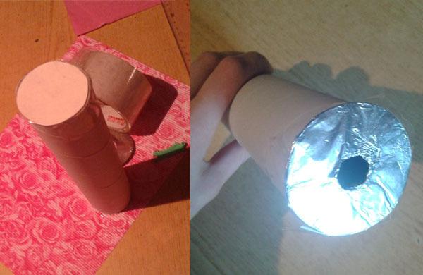 Как сделать калейдоскоп своими руками - приклеиваем бумажный круг