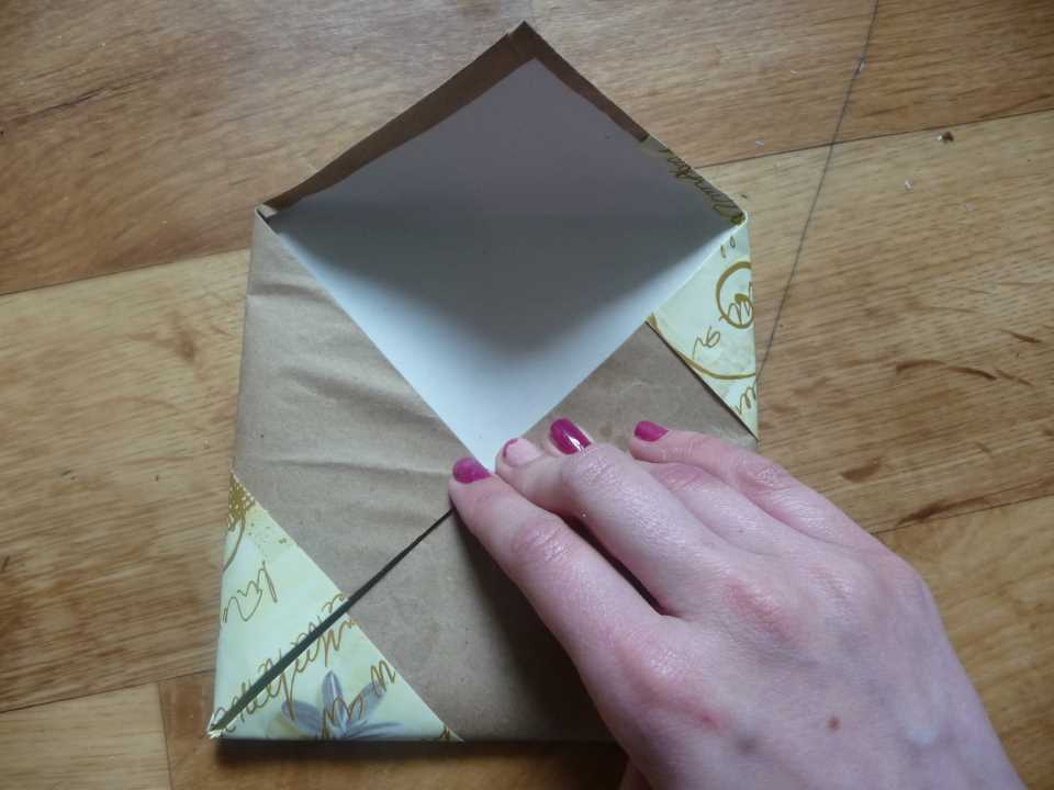 комодик для украшений своими руками - складываем лист в конверт