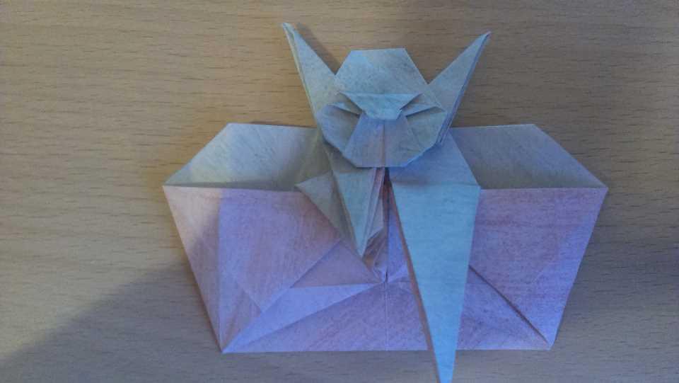 Оригами Мастер Йода своими руками 23