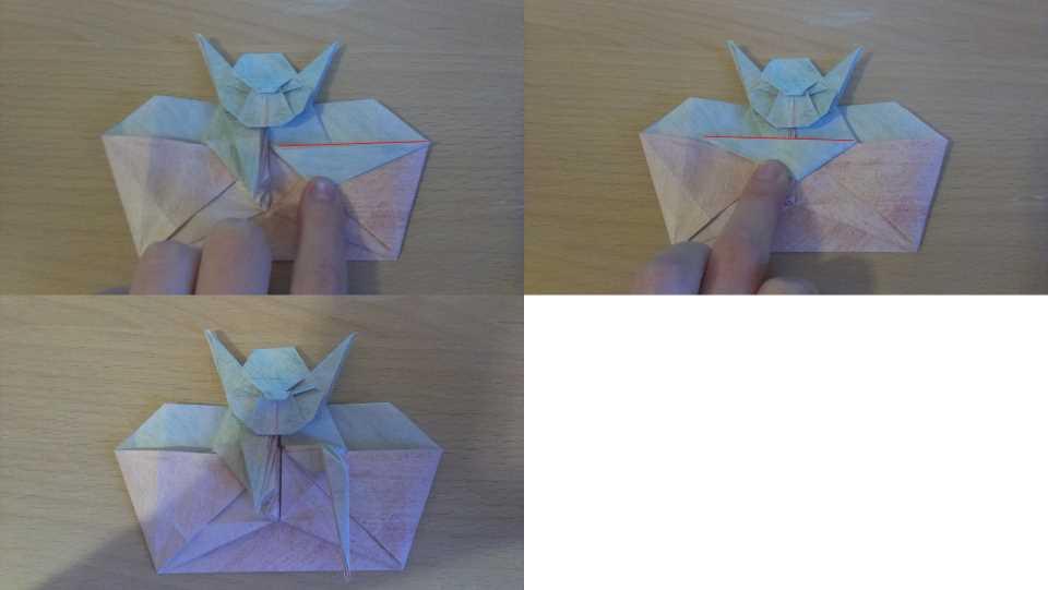 Оригами Мастер Йода своими руками 24