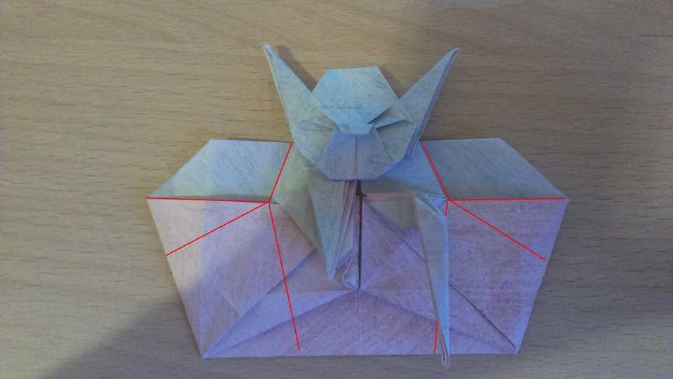 Оригами Мастер Йода своими руками 25