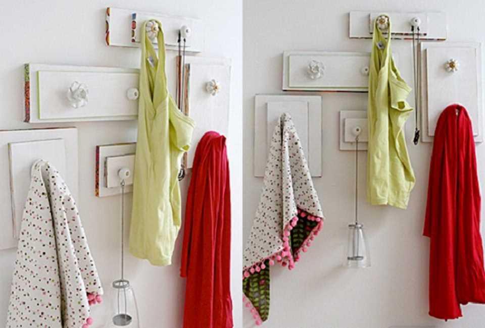 Вешалка для кухни своими руками из брусков и дверных ручек