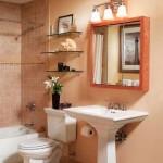 Идеи для вашей ванной комнаты. Полки из стекла своими руками