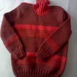 Простая модель детского свитера для вязания спицами